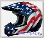 Шлем AFX FX-17 FREEDOM FLAG OFFROAD BLACK