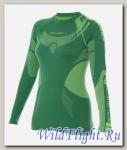 Футболка Brubeck женские зональные DRY зелёно-лимонный