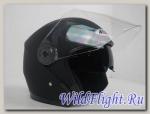 Шлем (открытый со стеклом) Ataki OF512 Solid черный матовый