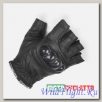 Перчатки MOTOCYCLETTO без пальцев HALF-FINGER BLACK, кожа