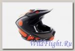 Шлем (кроссовый) Ataki MX801 Strike оранжевый/черный матовый