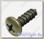 Винт самонарезающий с крестообразным шлицем 4х12мм, сталь LU013803