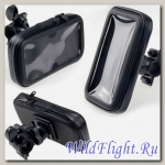 Чехол-держатель универсальный с креплением на руль (для телефона, GPS), защита от влаги, прозрачный