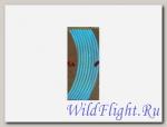 НАКЛЕЙКИ на обод колеса ( светоотражающие, набор в блистере, на 2 колеса) (WS 18В) 16-18 синий