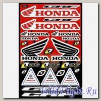 Наклейки набор (28х43) Honda
