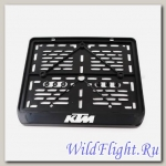 Рамка для номера KTM рельеф