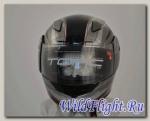 Шлем интеграл ТORC T-19 BLACK MORINI RED (ФИБЕРГЛАСС/НЕЙЛОН (прочност/легк)) (Европ. качество, www.torchelmets.com) черно-серый с рис-ом