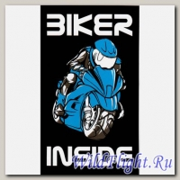 Наклейка Crazy Iron BIKER INSIDE Blue