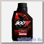 Мотор/масло MOTUL 300V 4T FL road racing, 5W-40, 1 л. (MOTUL)