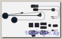 Универсальный комплект для Interphone F серии: стереонаушники + 2 микрофона для открытых и Full Face шлемов