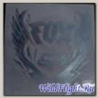 Наклейка Надпись FOX серебристая/красная/синяя (байкер стиль) (GPA 5765)