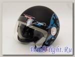 Шлем Vcan 522 открытый flat black/fl