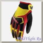 Перчатки THOR SPECTRUM YELLOW/BLACK/RED