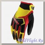 Перчатки THOR SPECTRUM YELLOW/BLACK/RED