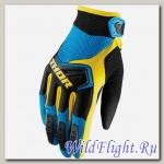 Перчатки THOR YOUTH SPECTRUM BLUE/BLACK/YELLOW